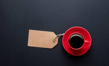 red cup of hot coffee