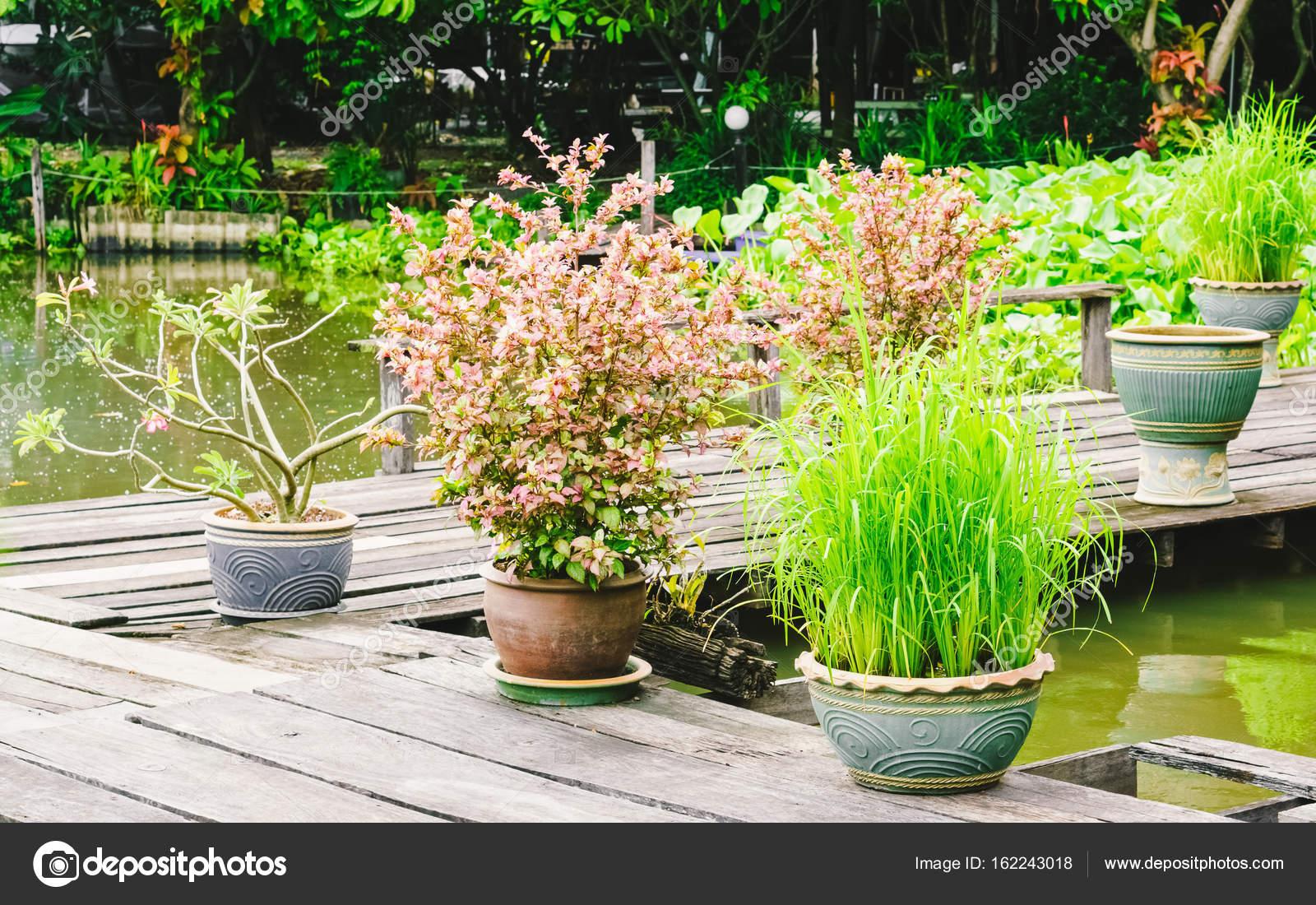 Zahradní Dekorace Tropické Thajské Vody Stock Fotografie
