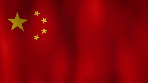 China Flag Wave waving in wind for background with copy space for your text. Realistic Chinese Flag background.