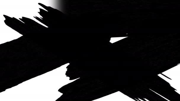 elvont festék ecset stroke fekete-fehér átmenet Luma Matte Átmenet mozgás grafika, maszkok, átmenetek, halvány, mattok, kiderül,.