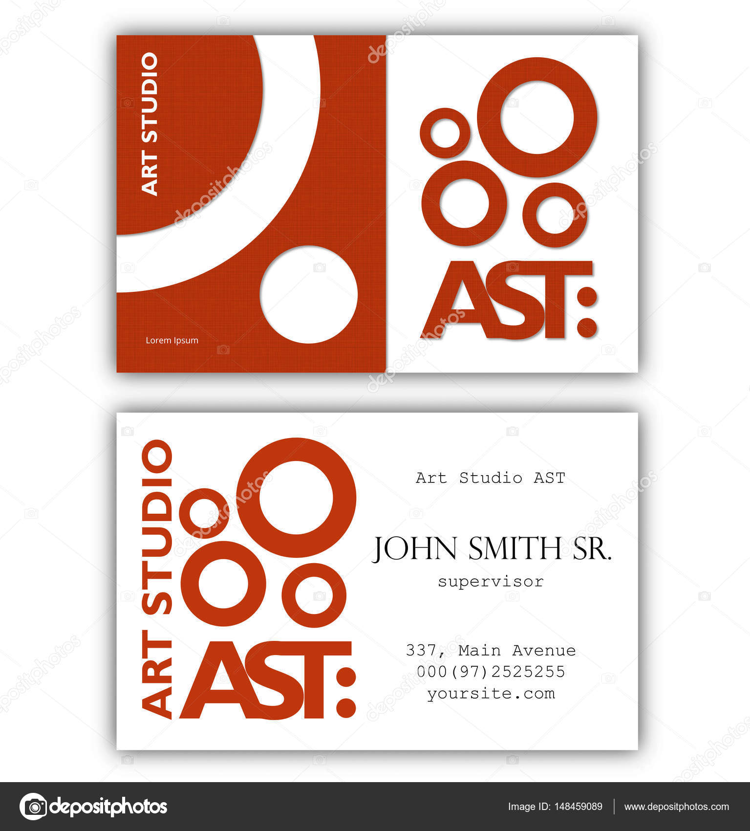 Abstract business card template art studio theme vector illust abstract business card template art studio theme standard size throughout uk and europe vector illustration vector by microvictor reheart Image collections