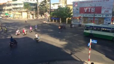 Traffic on the street of Ho Chi Minh City