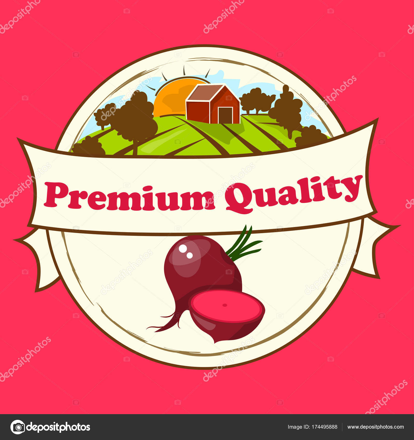 Whole ripe vegetables red beet stock vector stellal 174495888 vector illustration logo for whole ripe vegetables red beetcut slicednatural product closeup on background symbol for sauce product label or grocery buycottarizona Image collections