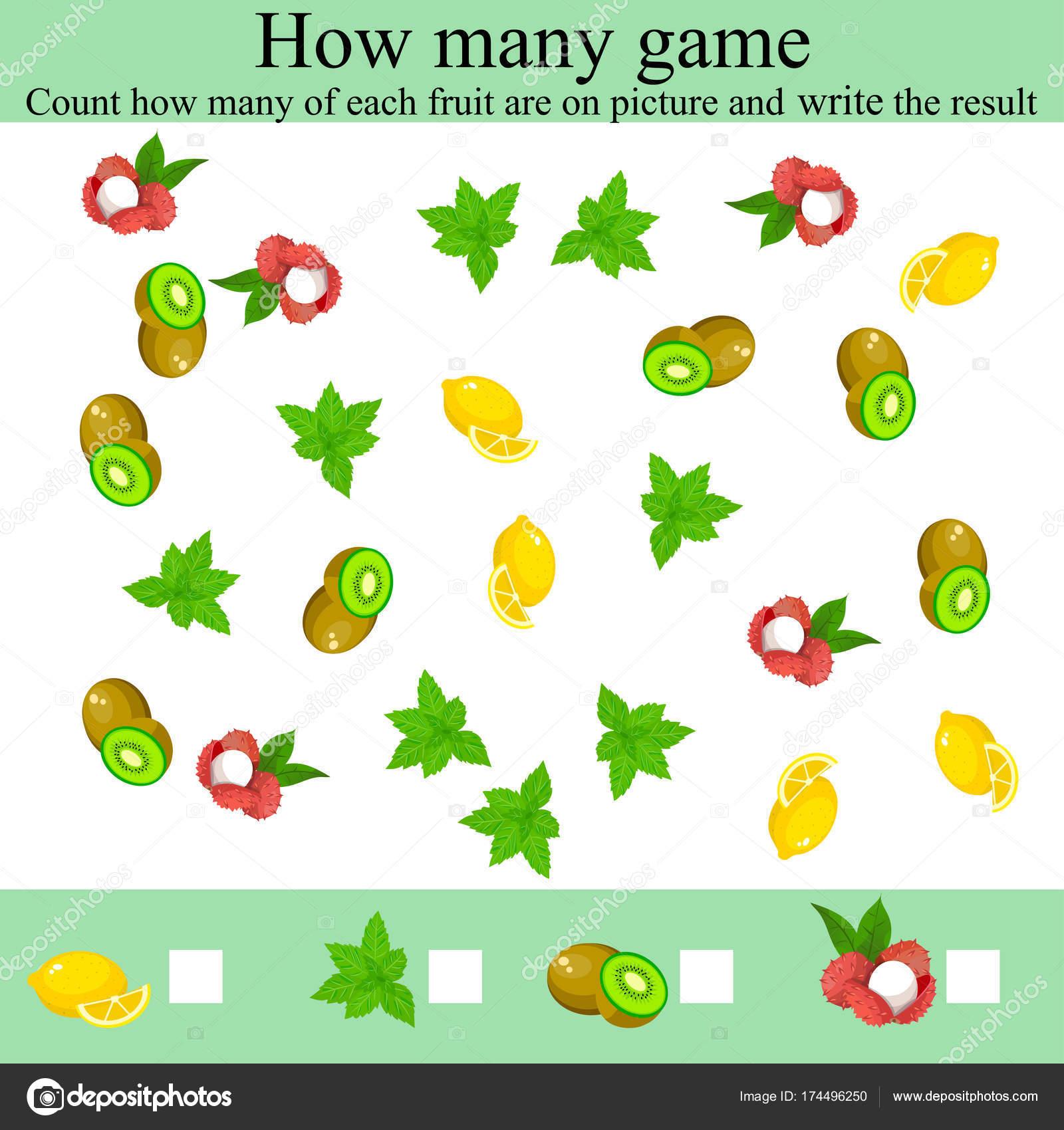 wie viele Objcets-Spiel — Stockvektor © StellaL #174496250