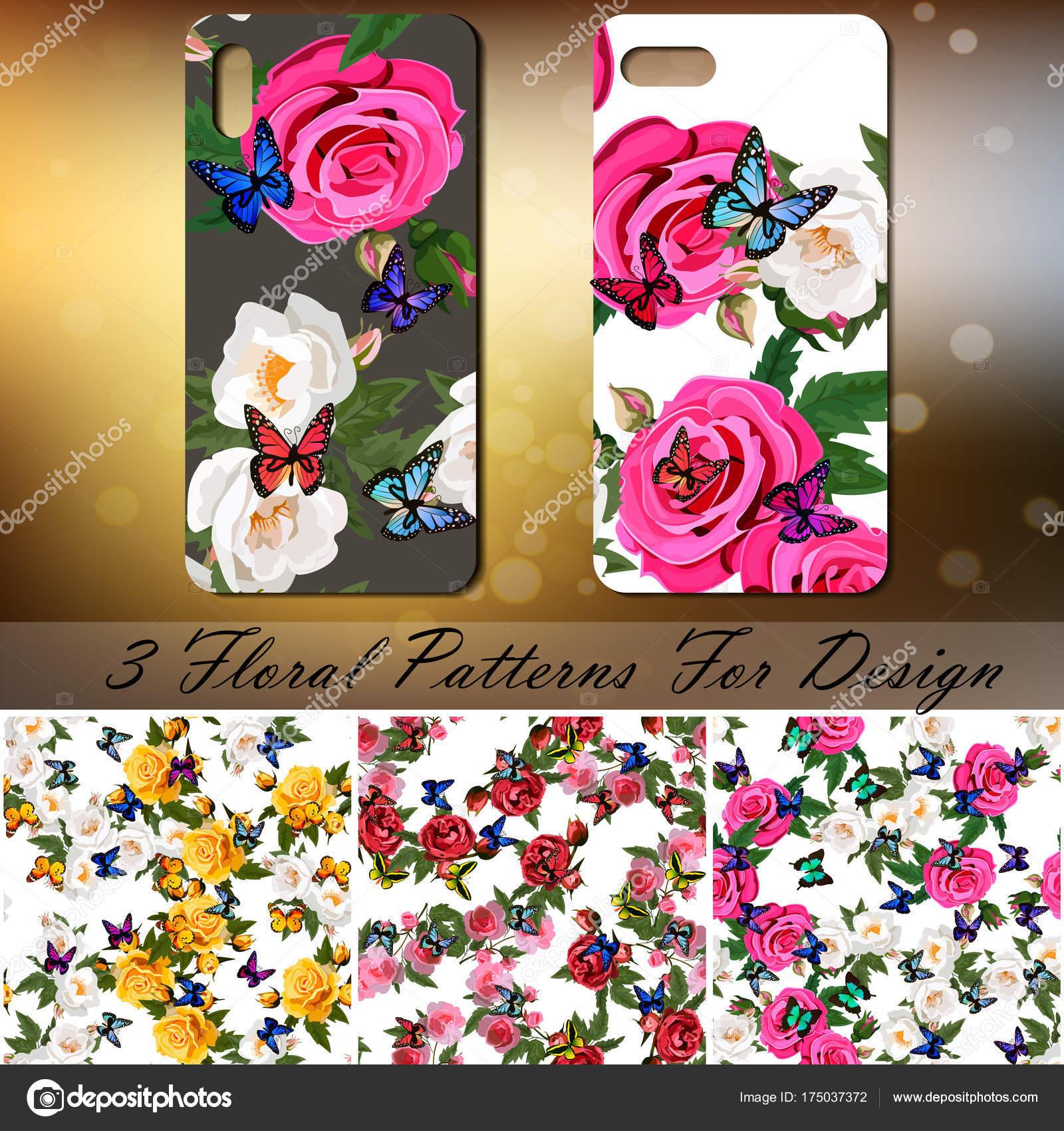 Sfondo Farfalle Telefono Copertura Del Telefono Con Rose E