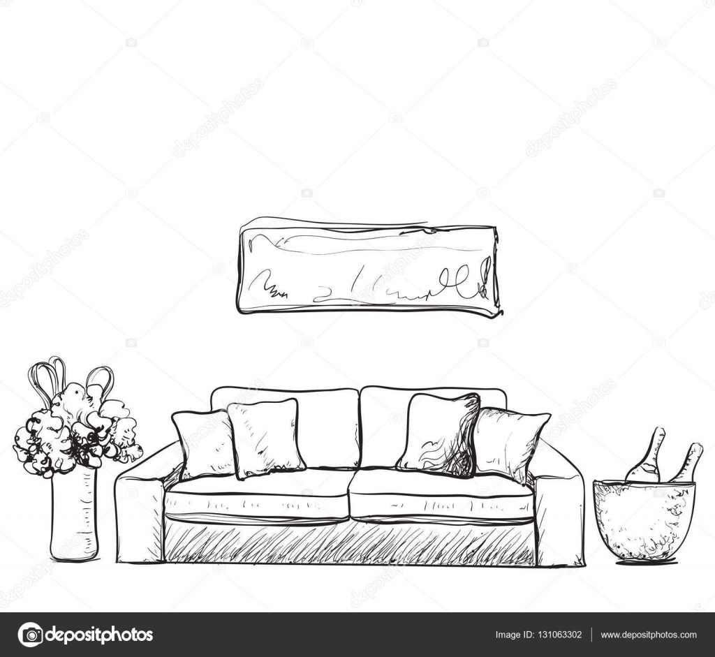 Cool drawing of living room images best idea home design for Sofa zeichnung