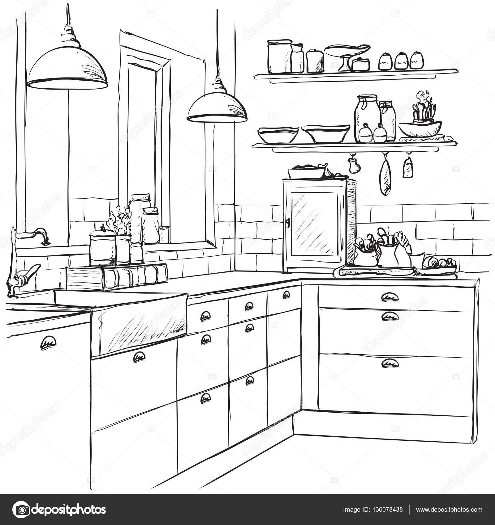 Dibujos De Muebles De Cocina Gallery Of Vinilo Para Muebles De  # Muebles Dibujos Para Colorear