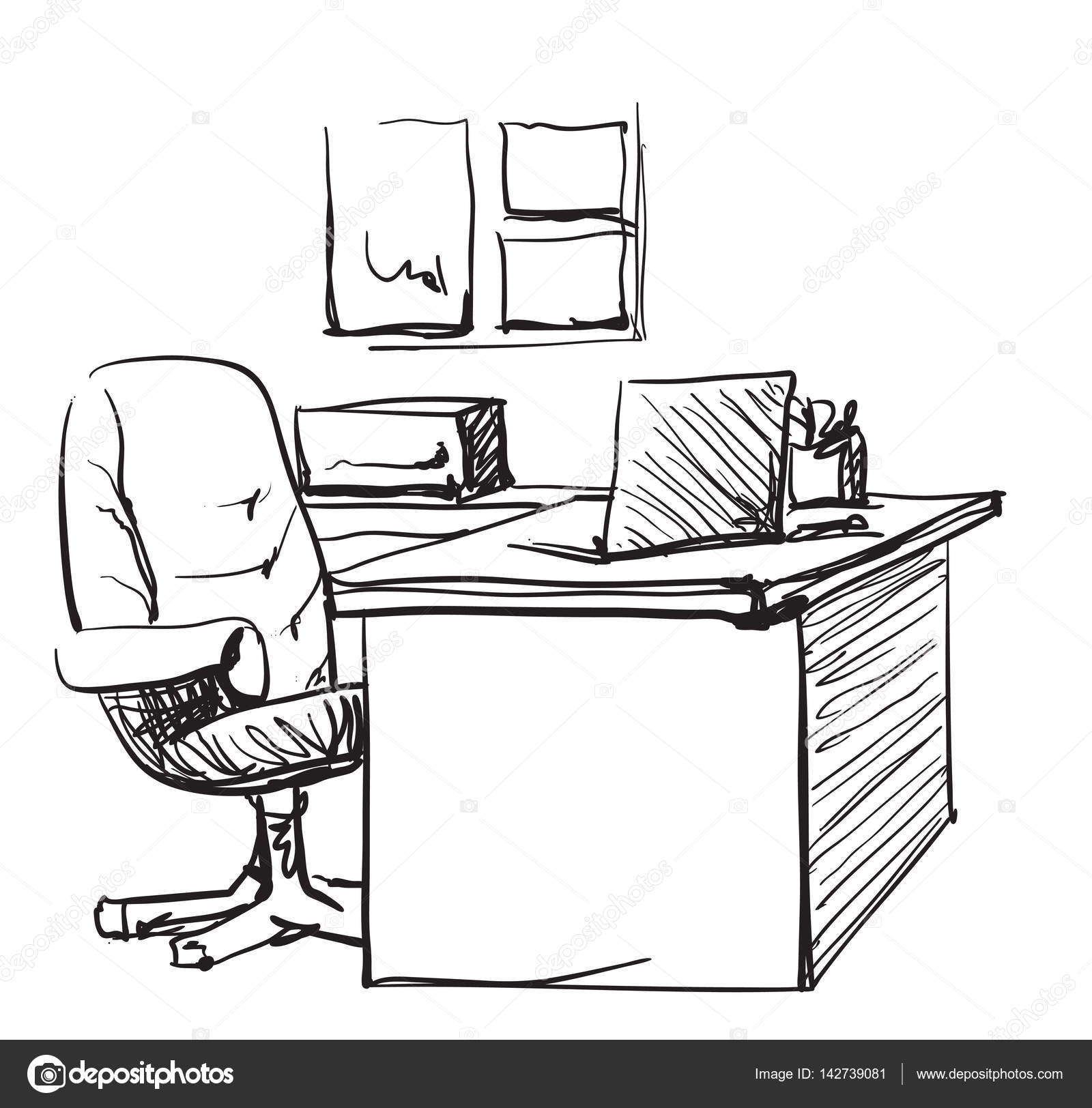 Schreibtisch gezeichnet  Schreibtisch Gezeichnet | saigonford.info