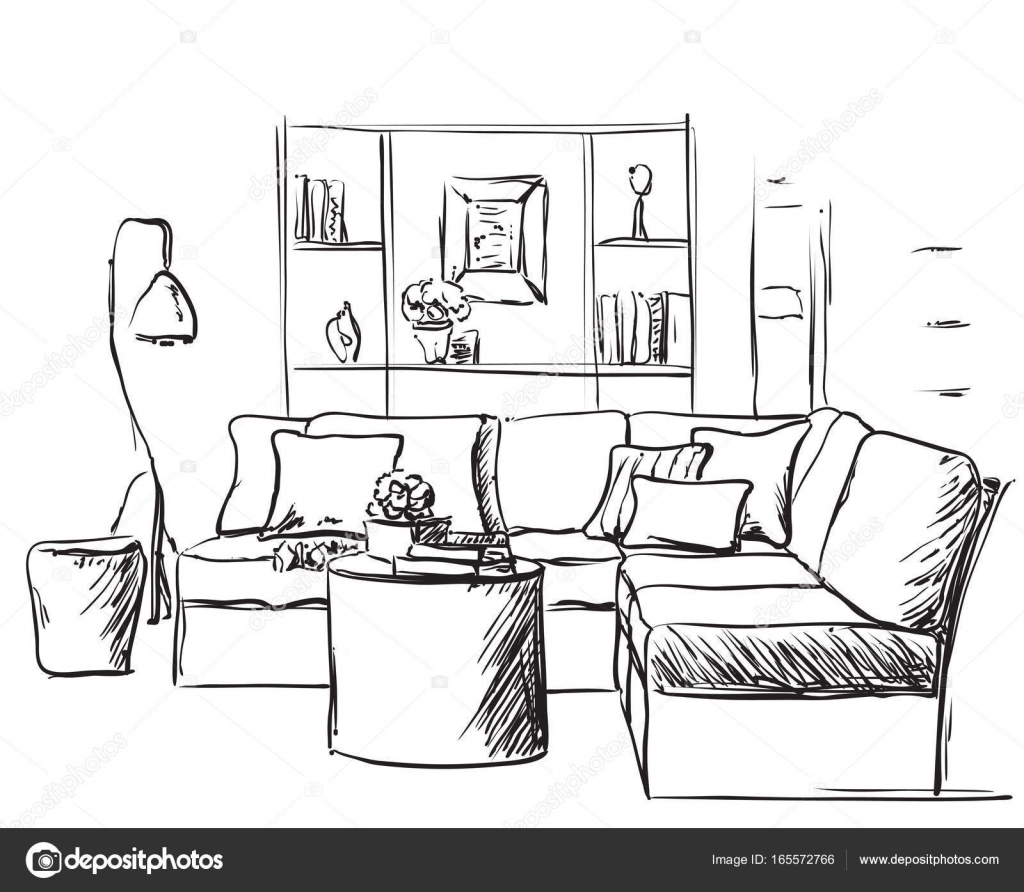 Miraculous Drawing Of Sofa Modern Interior Sketch Hand Drawing Sofa Pdpeps Interior Chair Design Pdpepsorg