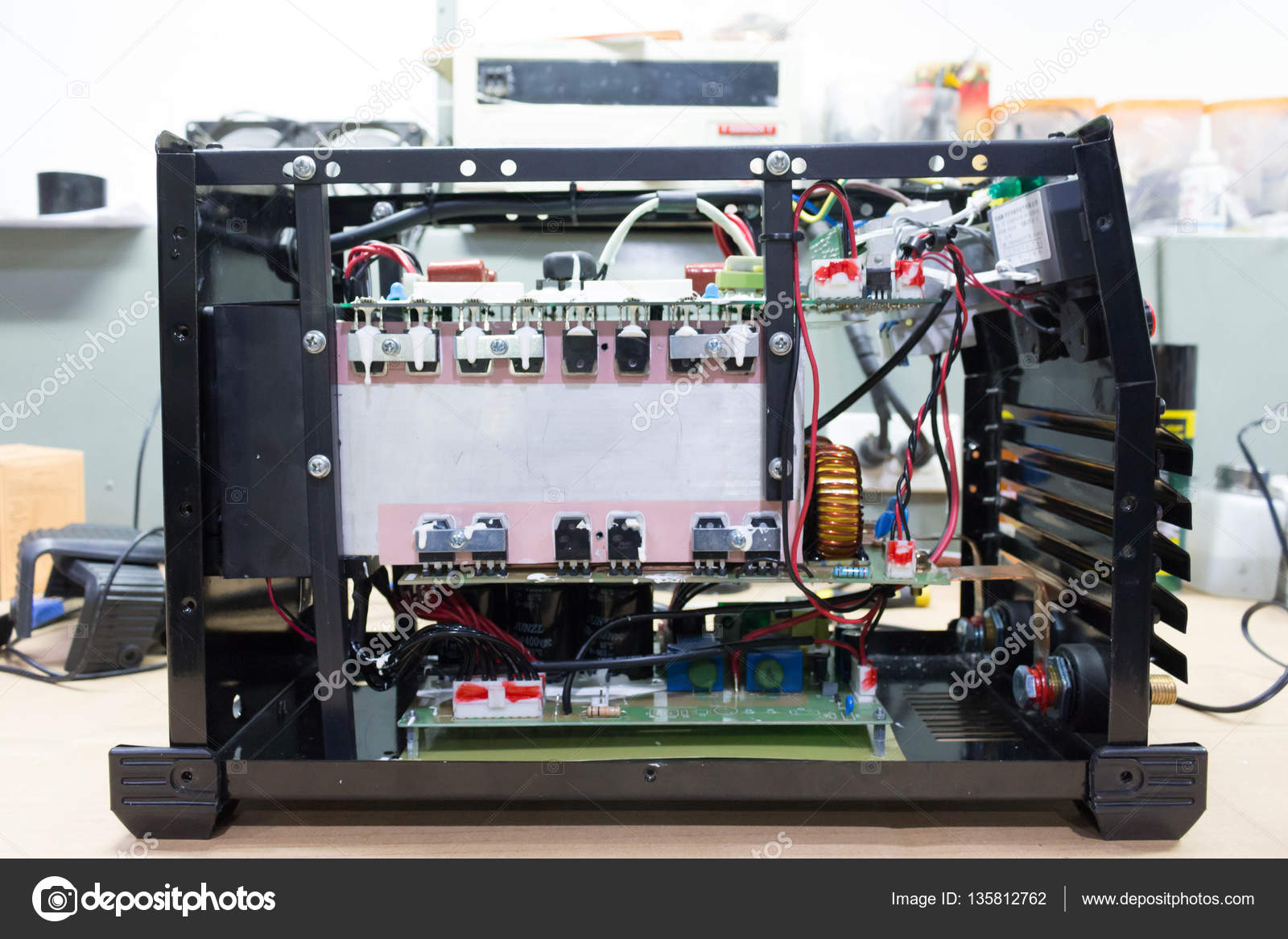 Electronic circuit board in Welding — Stock Photo © nanaboo