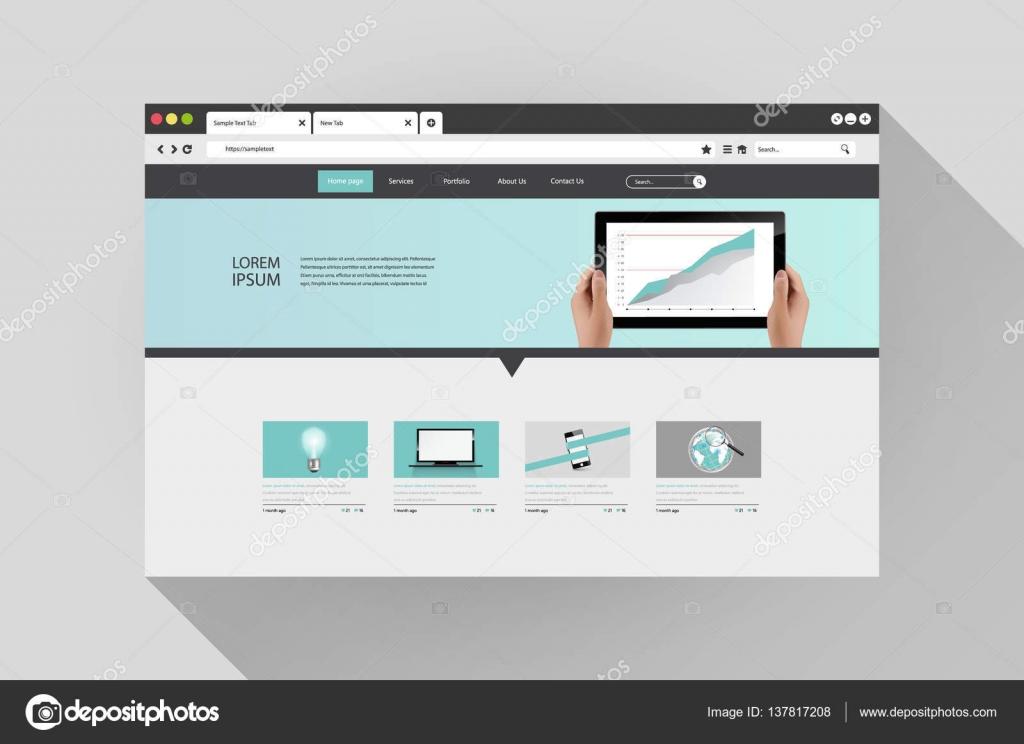 Moderní webové stránky šablony design — Stock Vektor © Droidworker ... 9388349a889