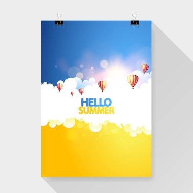 "Картина, постер, плакат, фотообои ""летний дизайн летчика "", артикул 137817986"