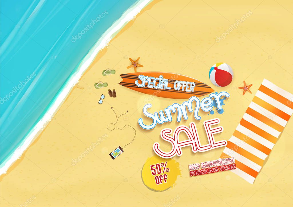 summer sale poster design