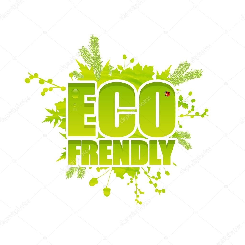 Creative Eco friendly lettering