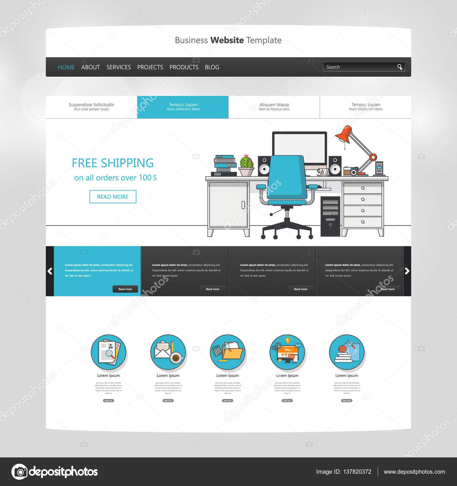 Moderne Website Template-design — Stockvektor © Droidworker #137820372