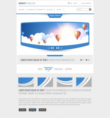 Website Design with hot air balloons