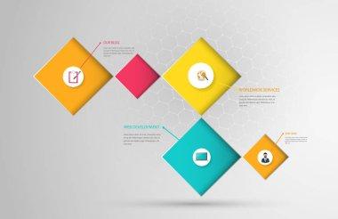 Colorful Square Infographic Design