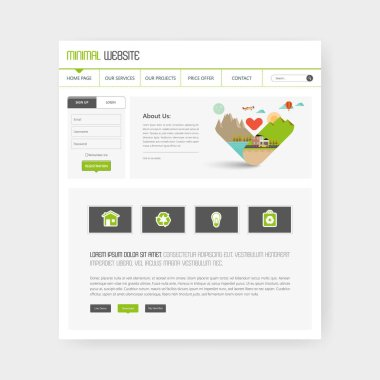 Eco Business page website template.