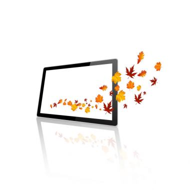 Beautiful autumn design with colorful leaves, vector illustration stock vector