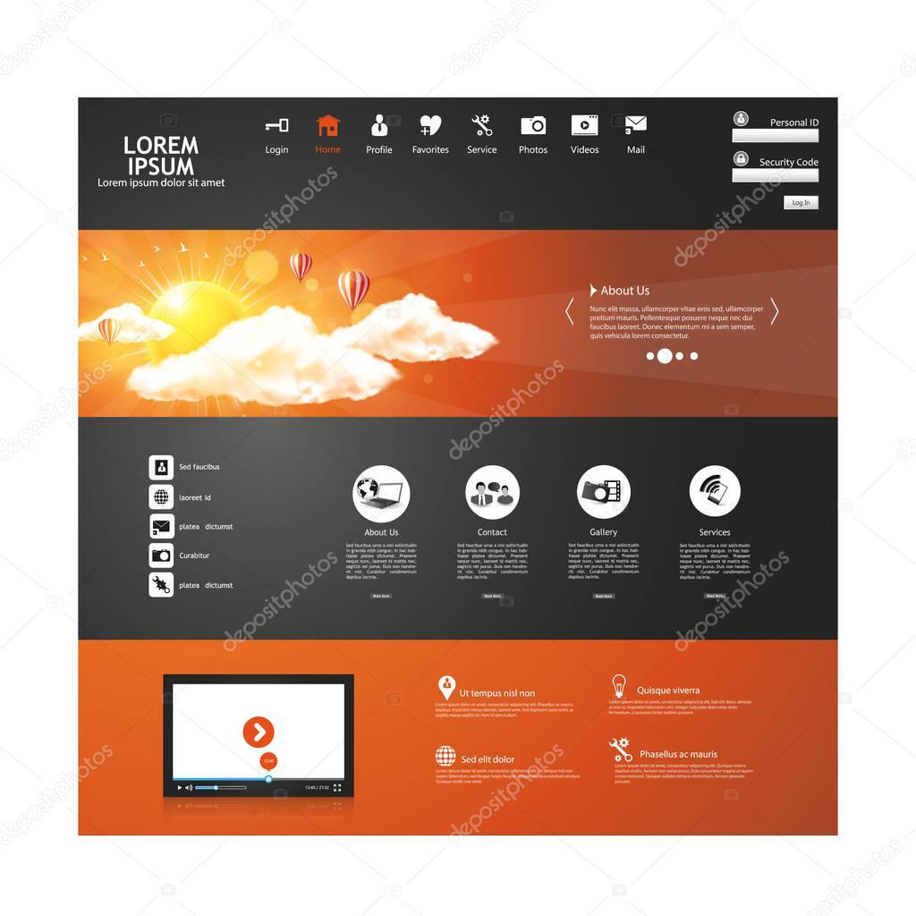 Website-Design-Templates — Stockvektor © Droidworker #151013066