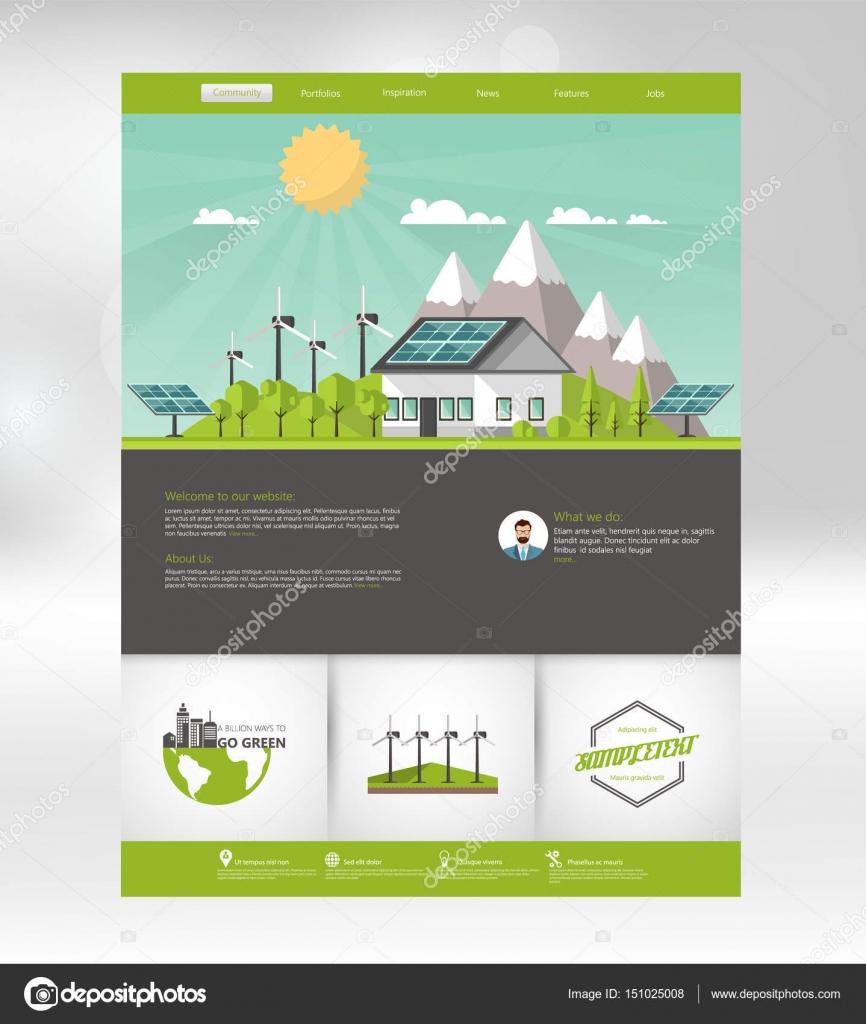 Solar energy flyer | Template of solar energy brochure