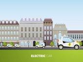 Šablona brožury s electrocars vozidla