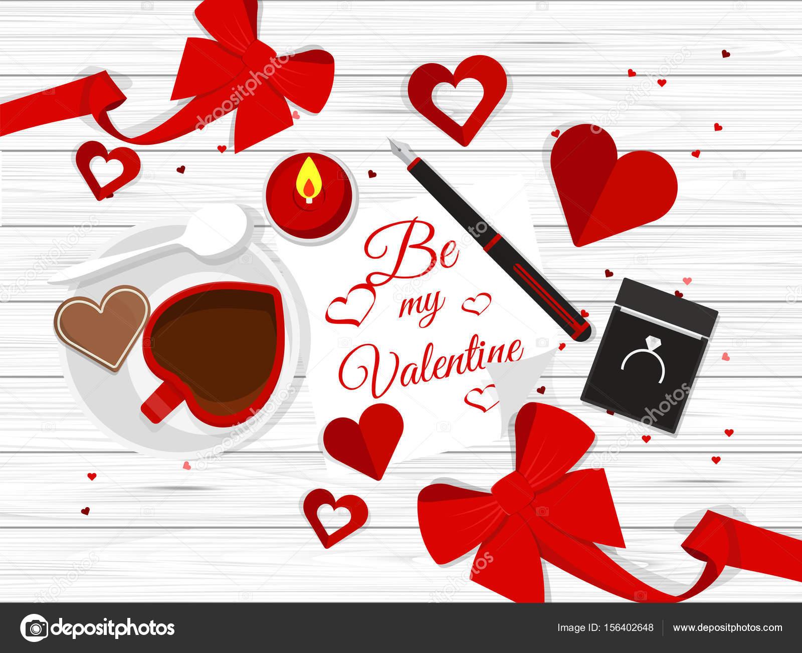 Composition romantique saint valentin image vectorielle droidworker 156402648 - Image saint valentin romantique ...