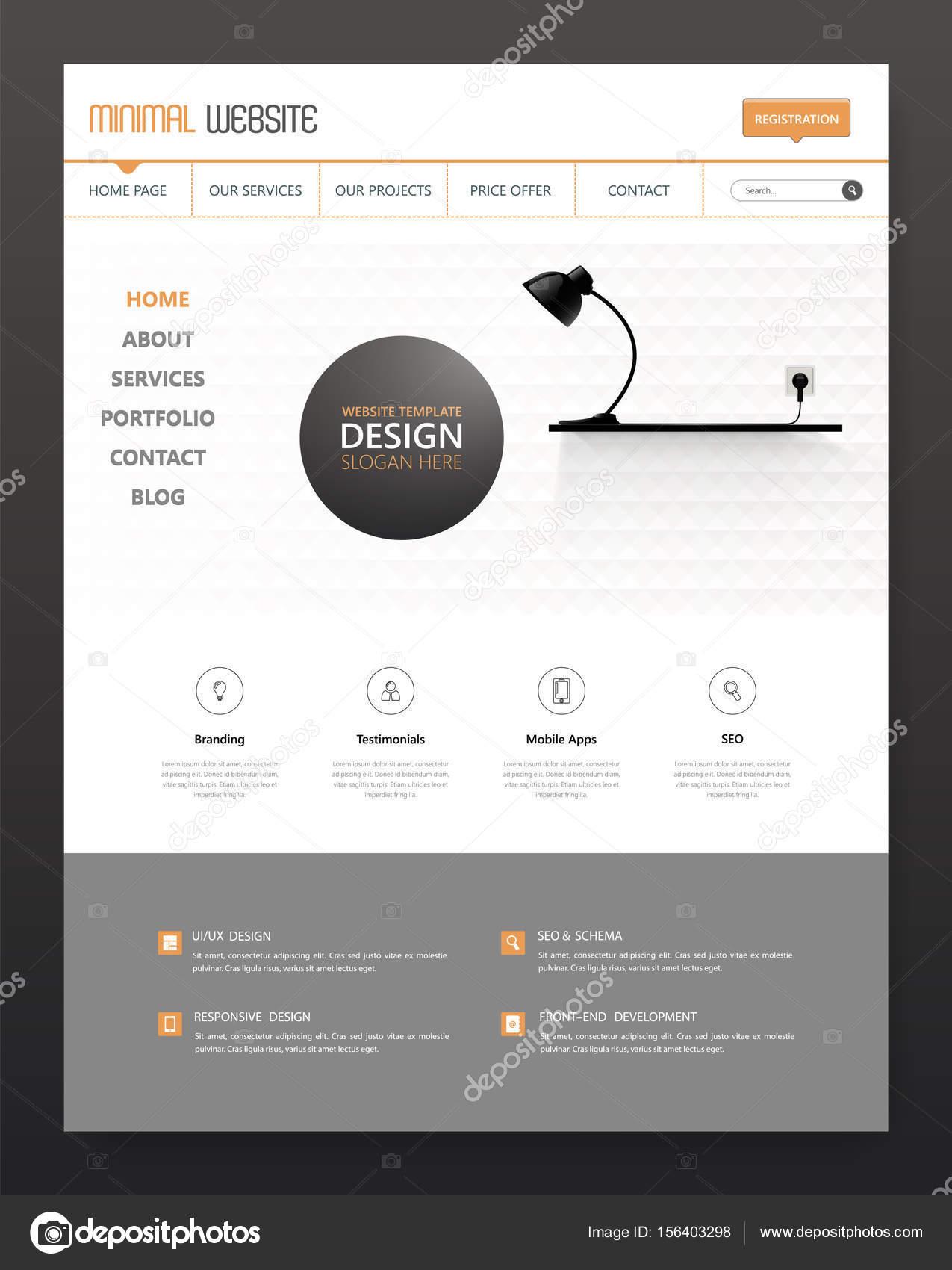 Minimalistische Web Interface-Vorlage — Stockvektor © Droidworker ...