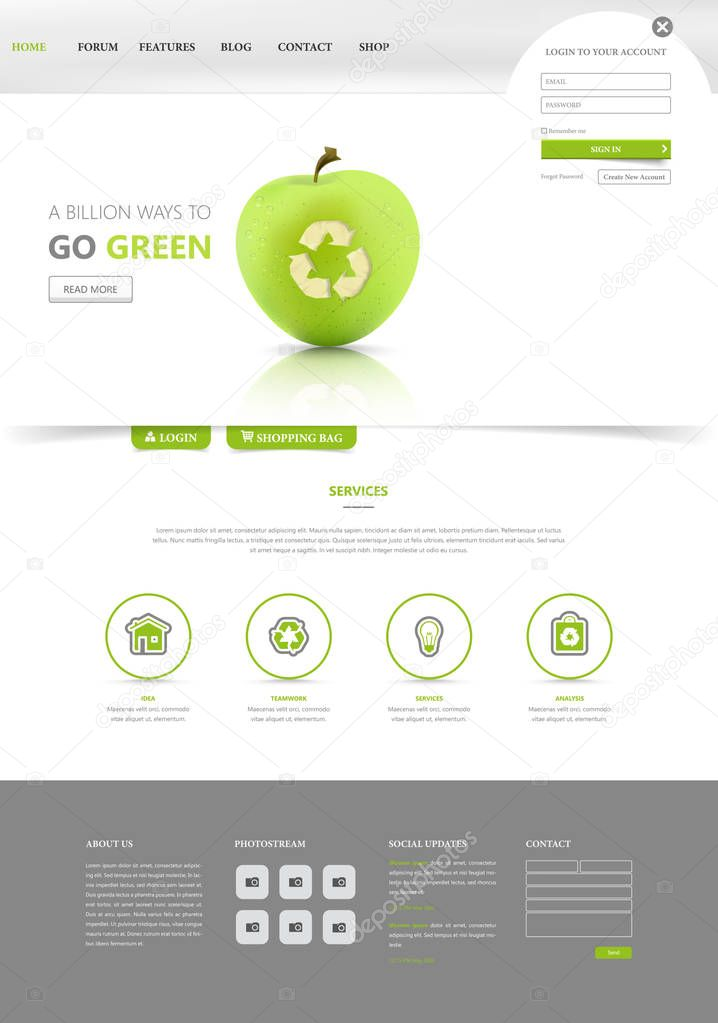 Eco Green Website Layout