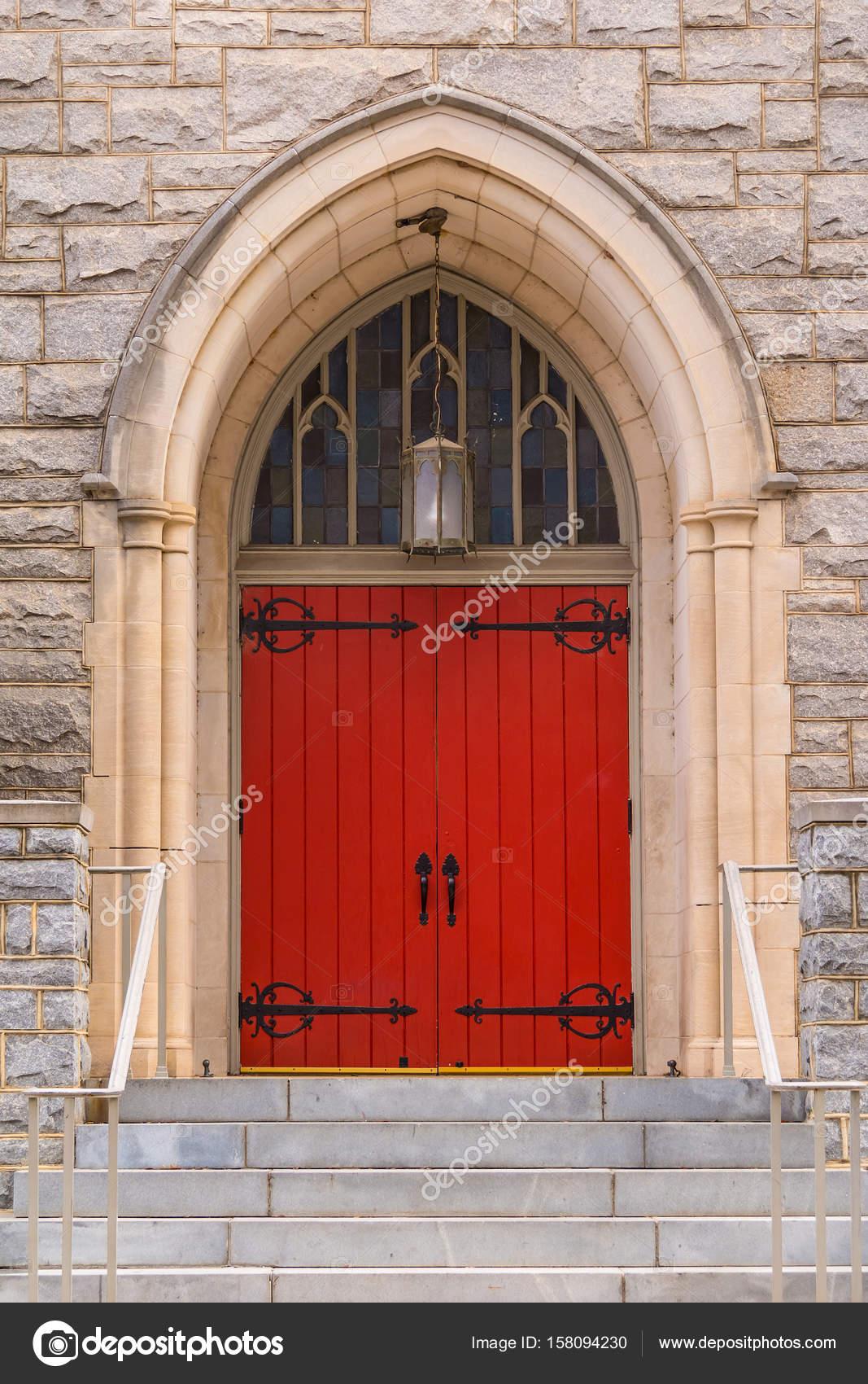 Door Of Saint Mark United Methodist Church Atlanta Usa Stock