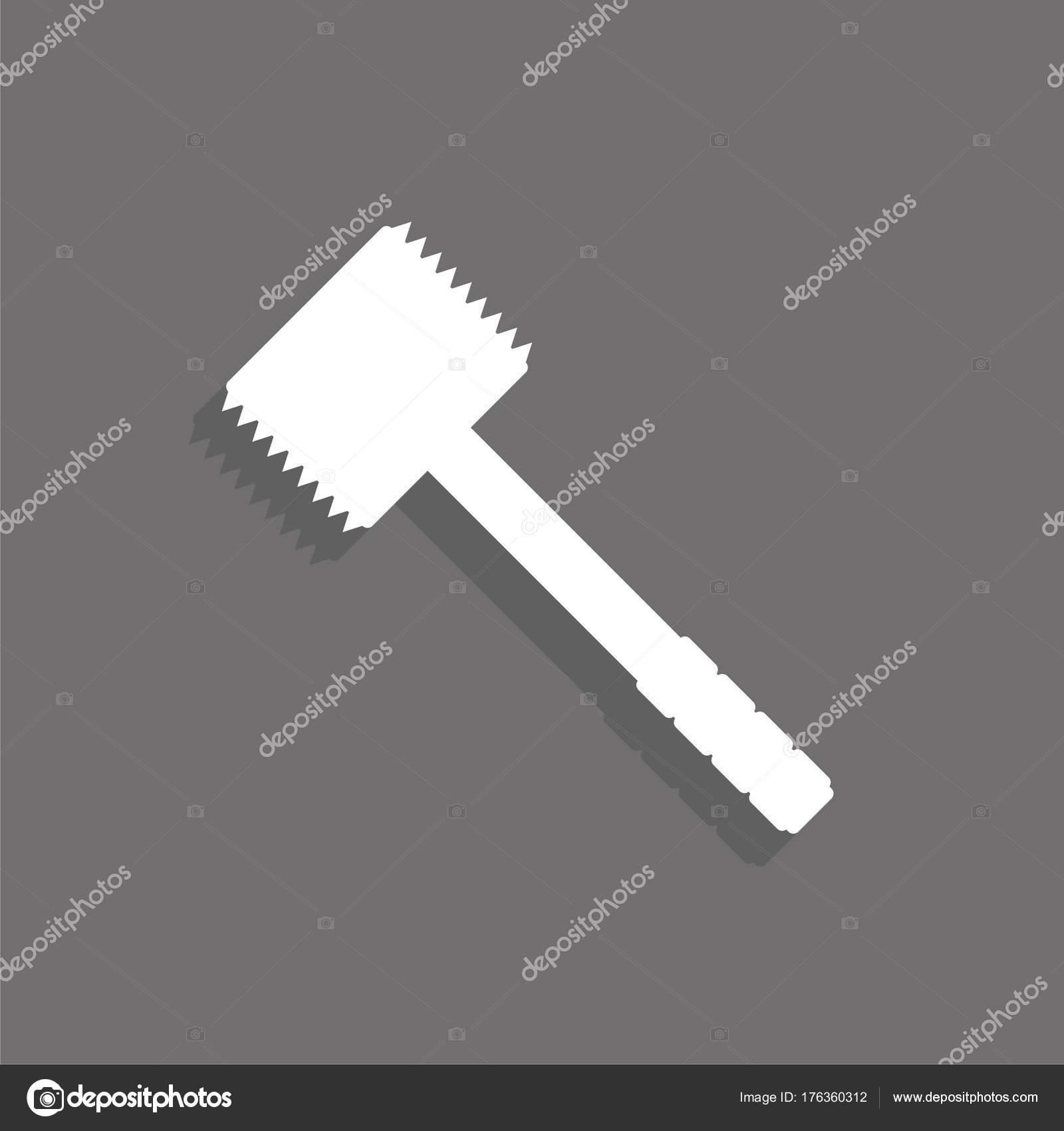 Küche Hammer Fleisch Schlagen Vektor Icon — Stockvektor © ivosoier ...