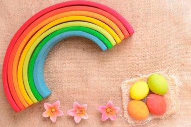 Easter colorfull eggs