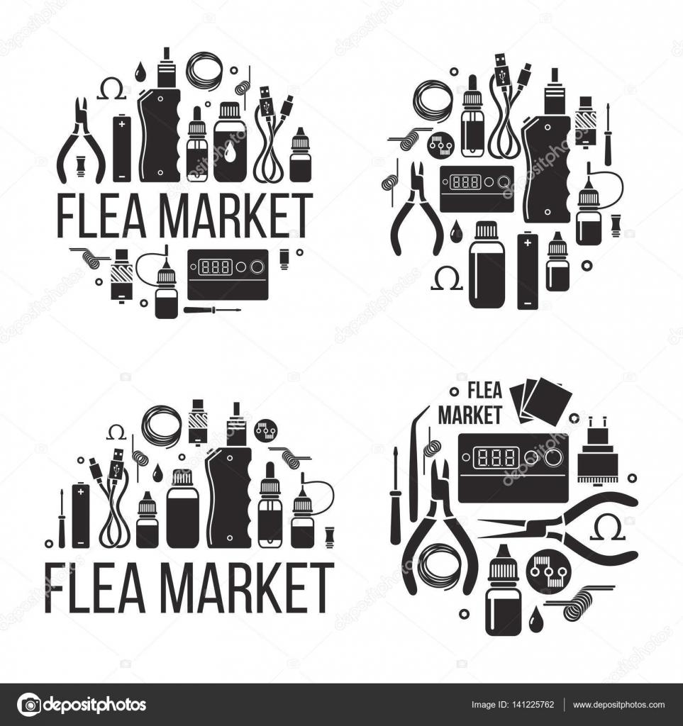 Flea Market Of Vape Stock Vector Ol4i.chiffa@gmail.com