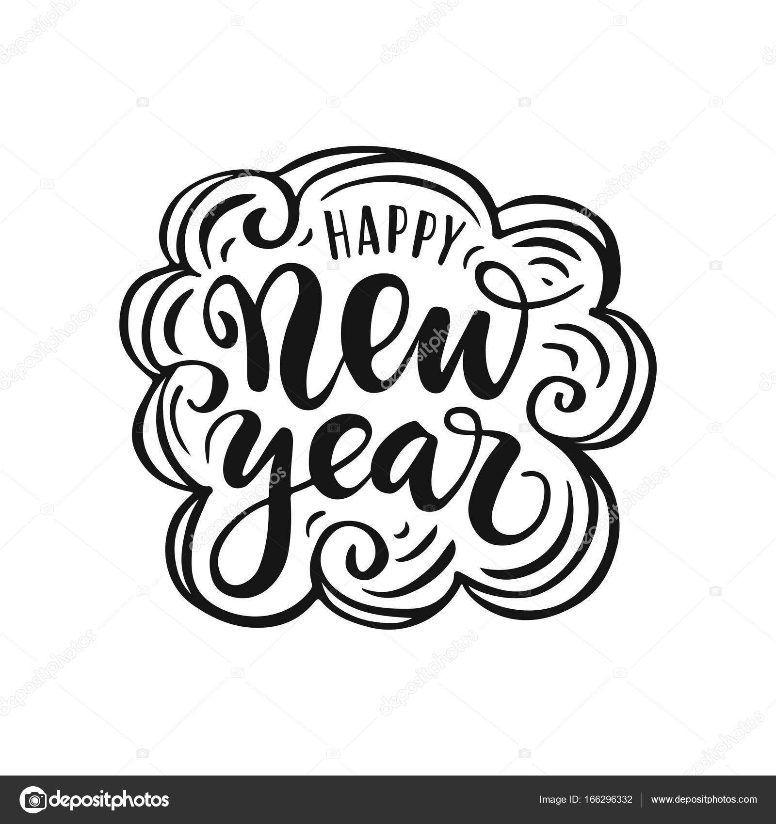 Happy New Year Lettering 68