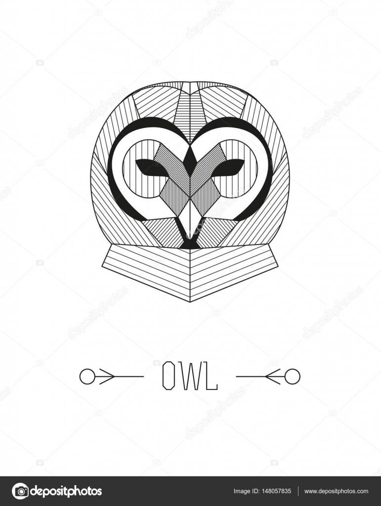 Illustration De Hibou Geometrique Image Vectorielle Ammashams