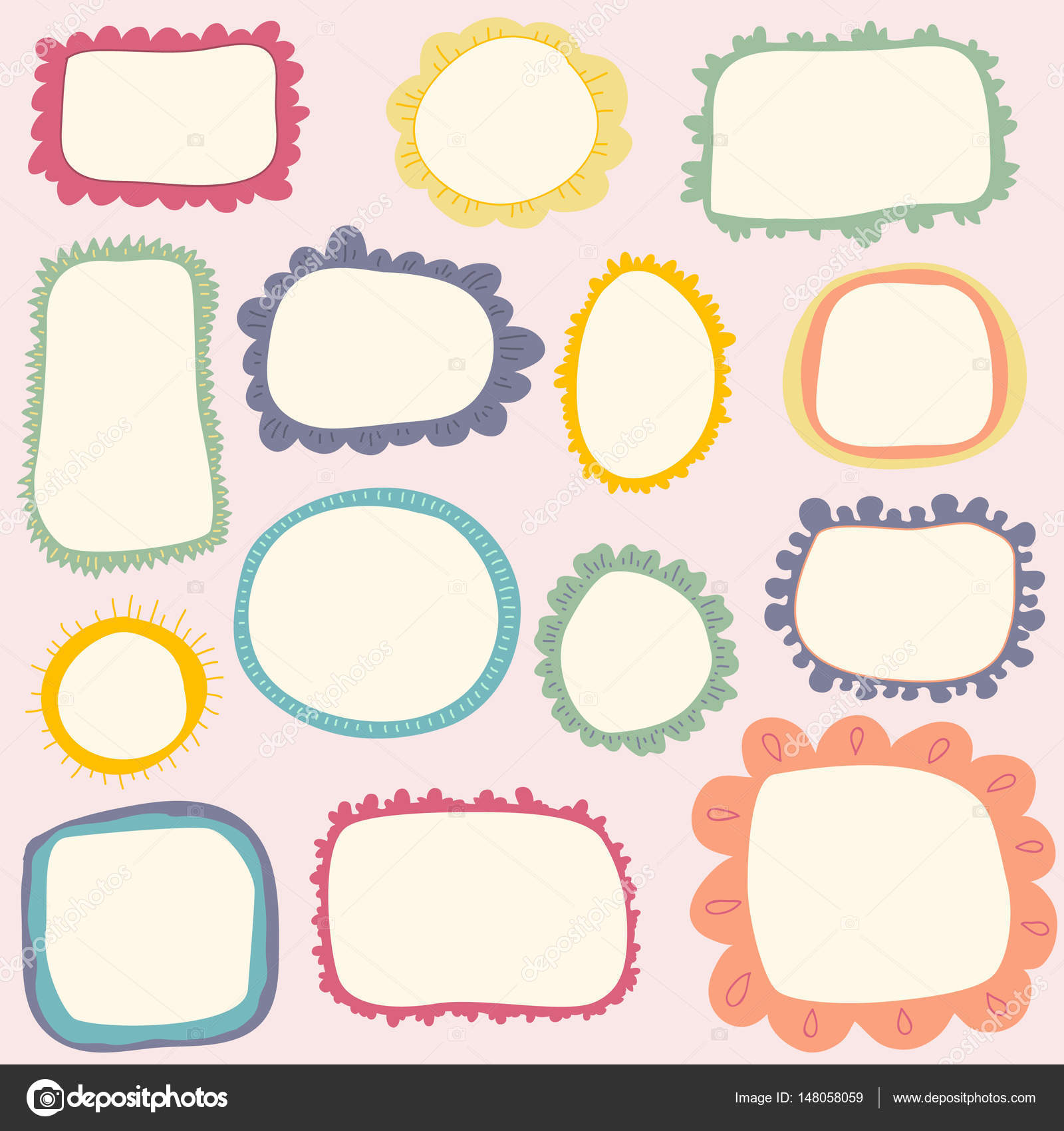 cute childish frames — Stock Vector © AmmaShams #148058059