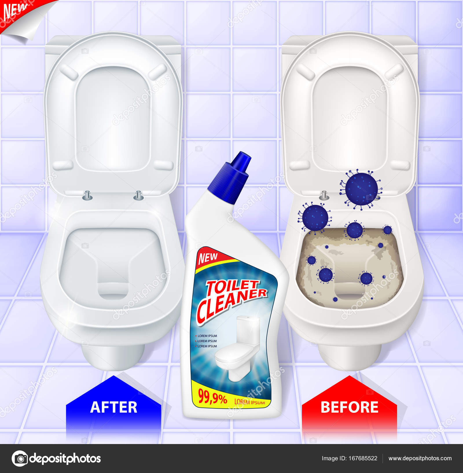 Marvelous Toilet Cleaner Gel Ads Top View Of Toilet Effect Of Pdpeps Interior Chair Design Pdpepsorg