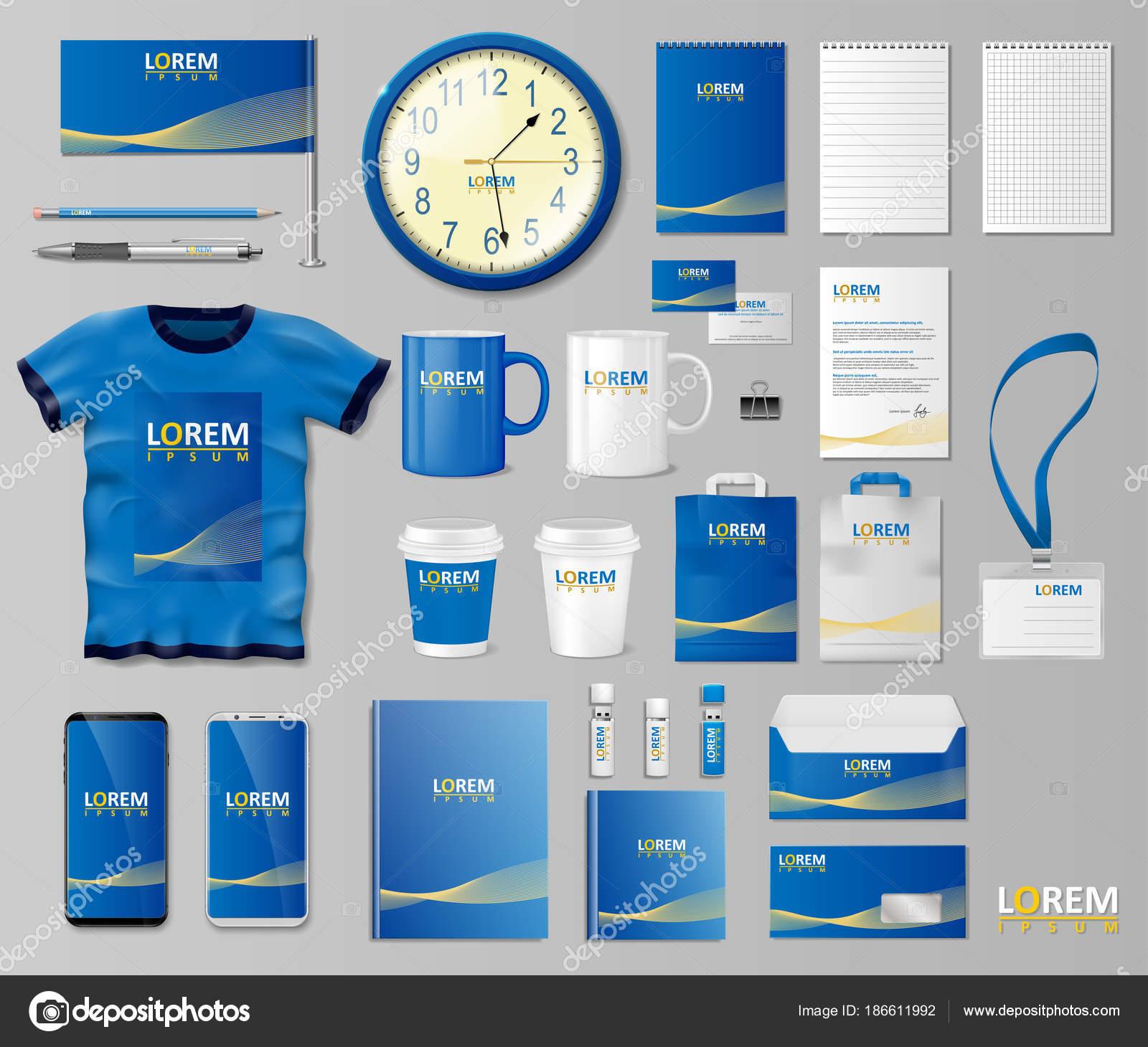 Diseño de plantilla de la identidad de Branding corporativo. Maqueta ...