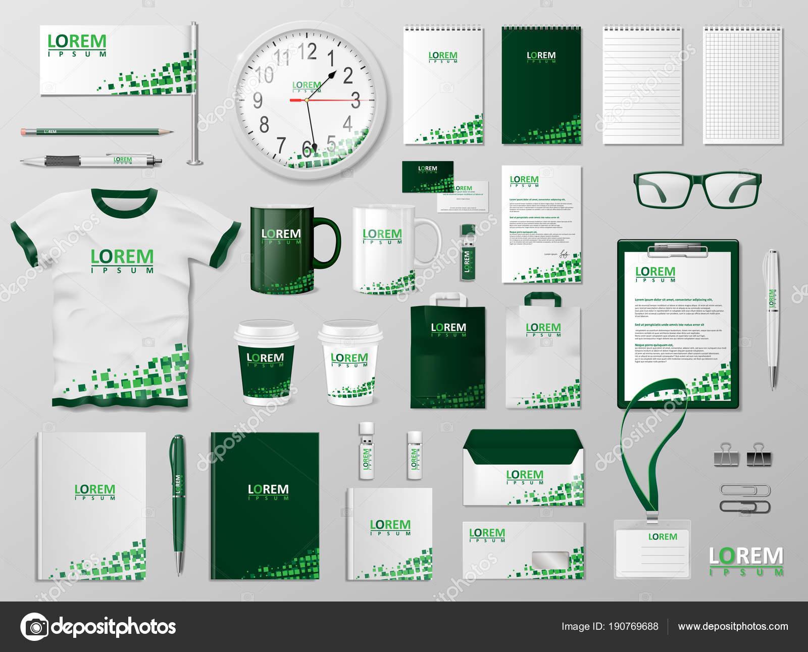 Corporate Branding identity template design Modern Stationery