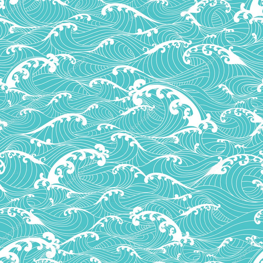 Coral Reef Batik - Ocean Blue | PRINTS & PATTERNS | Pinterest ...