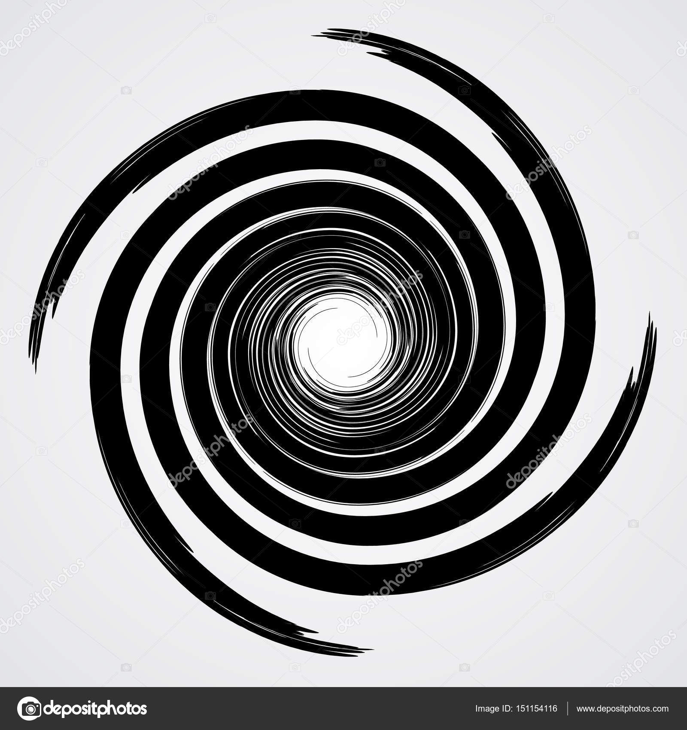black spiral swirl circle with brush stock vector y6uca 151154116