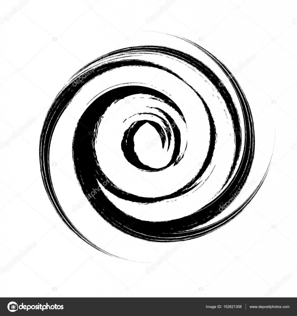 brush swirl spiral vector illustration stock vector y6uca 152621308