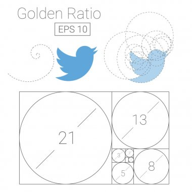 golden ratio template logo vector illustration