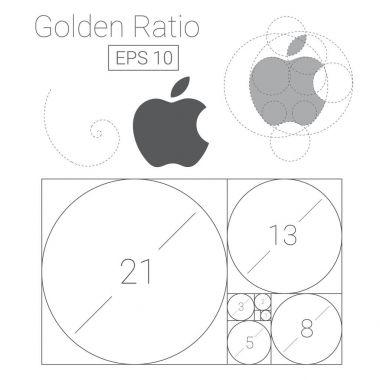 golden ratio template logo vector illustration