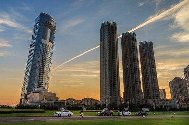 modern buildings of Dalian  city