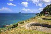 Baimiweng Fort or Holland Castle in the northwest of Keelung harbor in taiwan