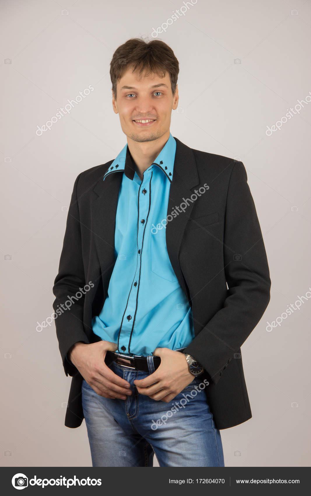 Chemise En Jeans Mec Chic Noire Une Veste Bleue Sexy Et Jeune gnxwZYRnqA