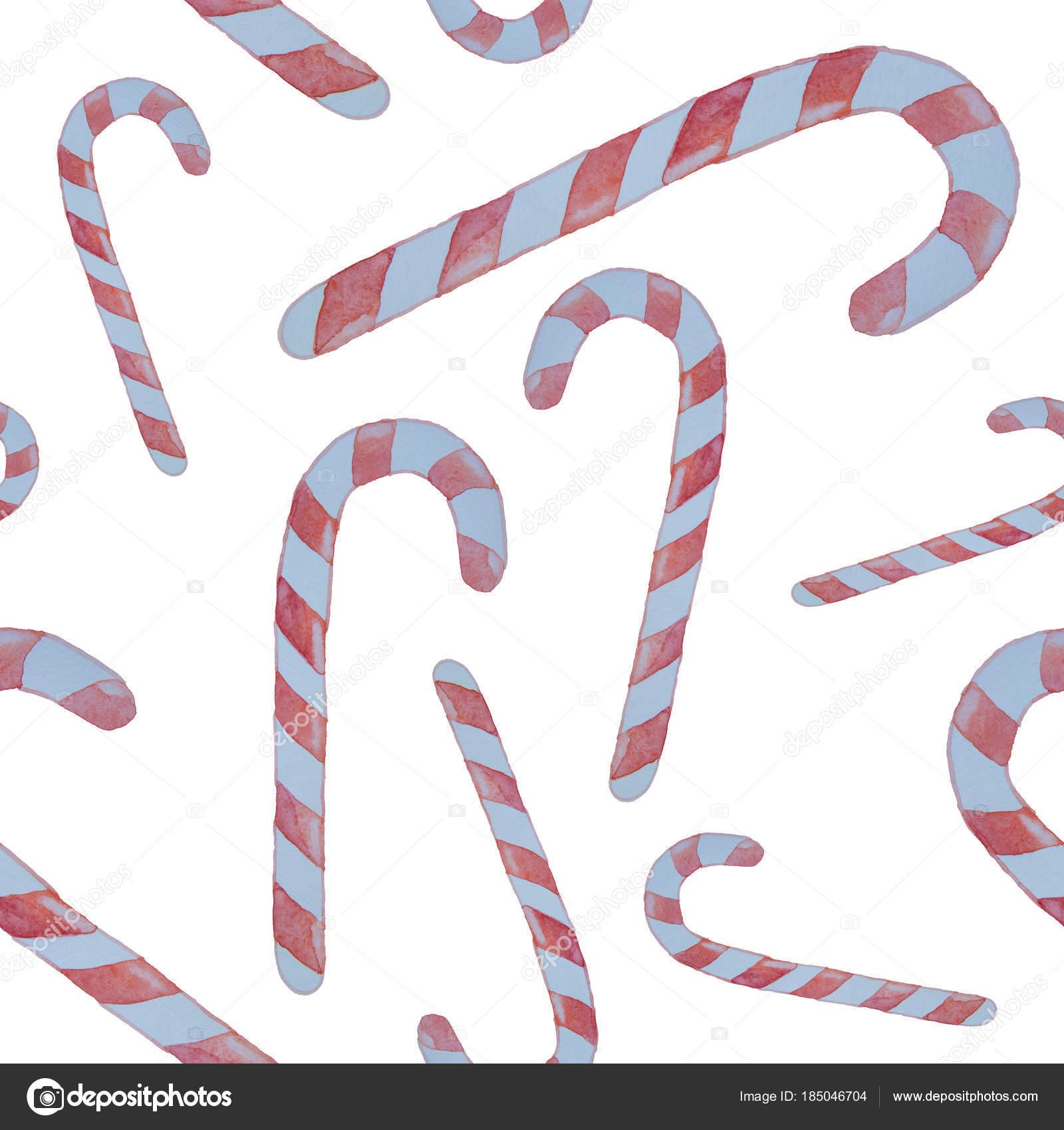 Patrón sin fisuras de bastones de caramelo con rayas rojas ...