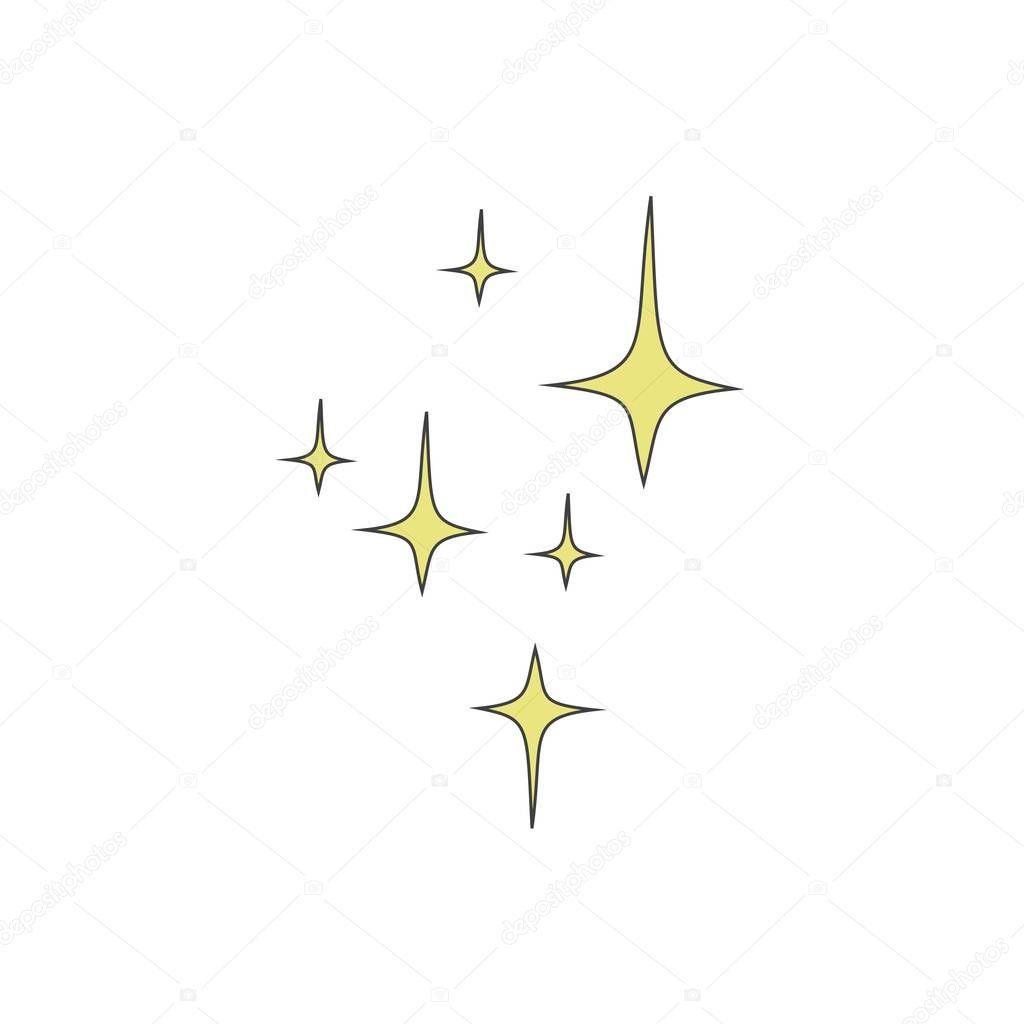 Stelle di quattro punte gialle su sfondo bianco vector for Quattro stelle arredamenti prezzi