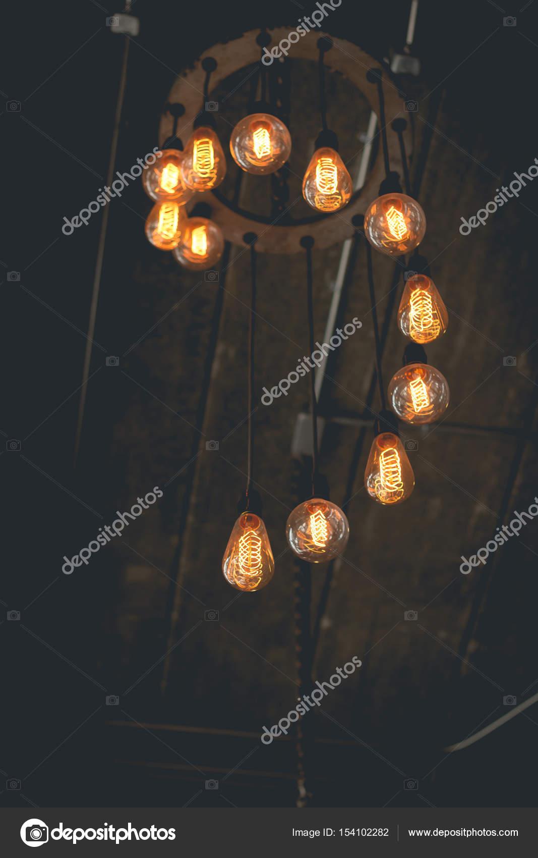 Mooie retro luxe interieur verlichting lamp decor — Stockfoto ...